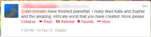 Tweets about planetfall