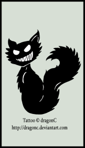 evil-black-cat-tattoo-design
