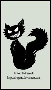 evil-black-cat-tattoo-design